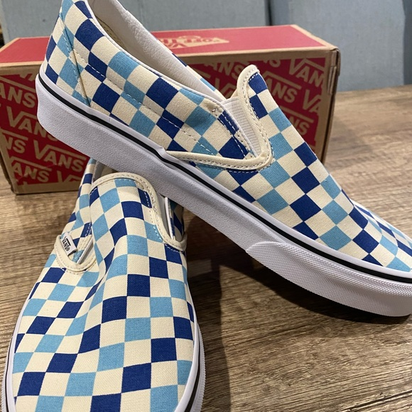 Vans Shoes | Blue Topaz Classic Slip On